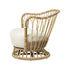Grace Gepolsterter Sessel / Neuauflage des Originalmodells aus dem Jahre 1936 - Rattan & Stoff - Gubi