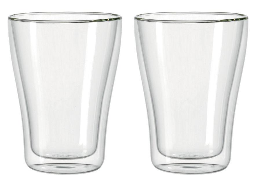 Tableware - Wine Glasses & Glassware - Duo double paroi Glass by Leonardo - Transparent - Glass