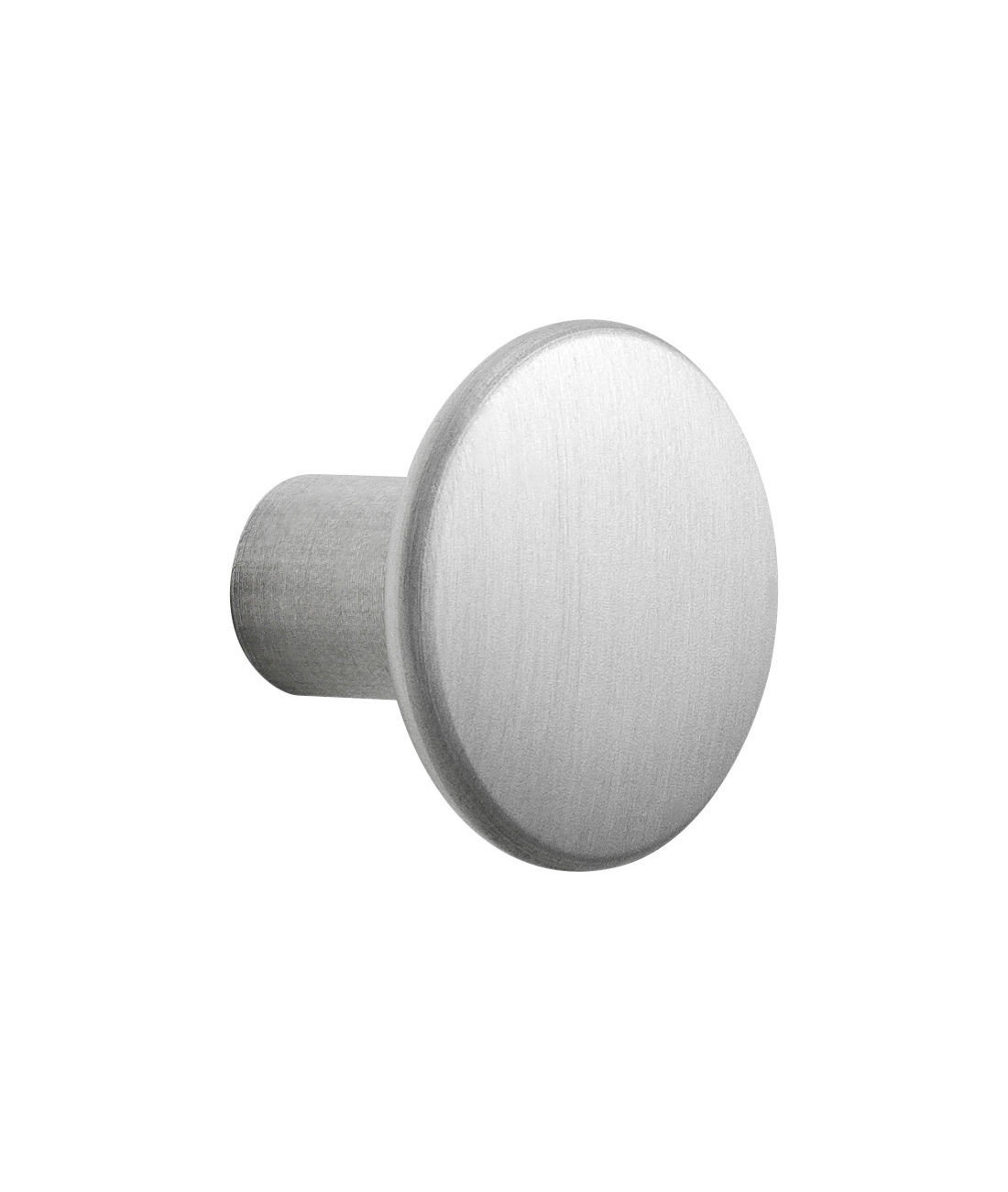Furniture - Coat Racks & Pegs - The Dots Metal Hook - Small - Ø 2,7 cm by Muuto - Aluminium - Aluminium
