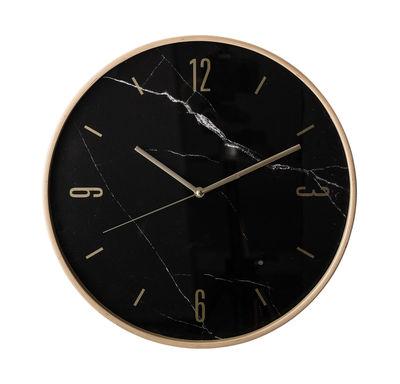 Déco - Horloges  - Horloge murale / Hêtre & laiton - Ø 41 cm - Bloomingville - Noir / Laiton - Hêtre, Laiton
