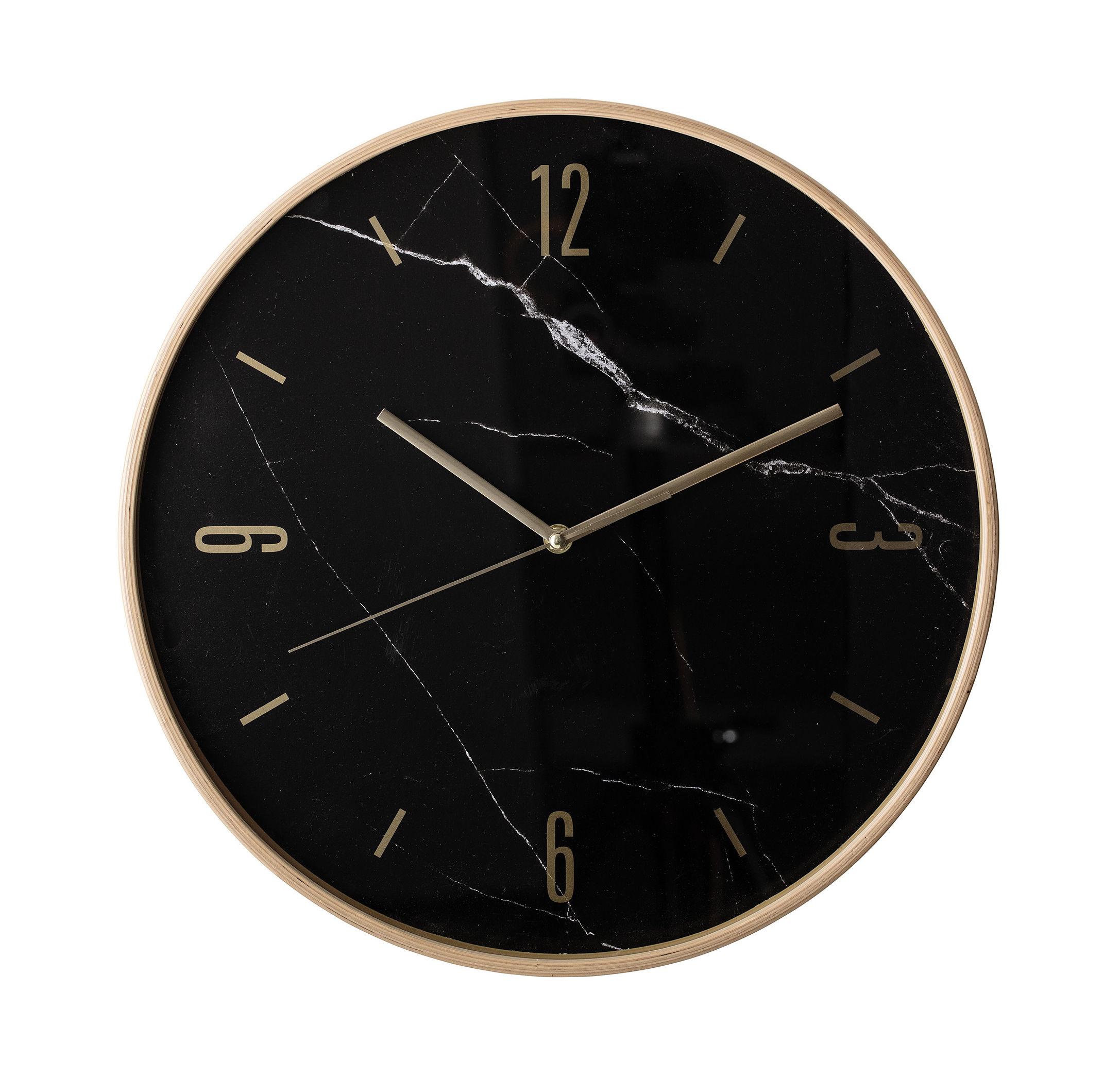 Horloge Murale Bloomingville Noir Laiton O 41 Made In Design