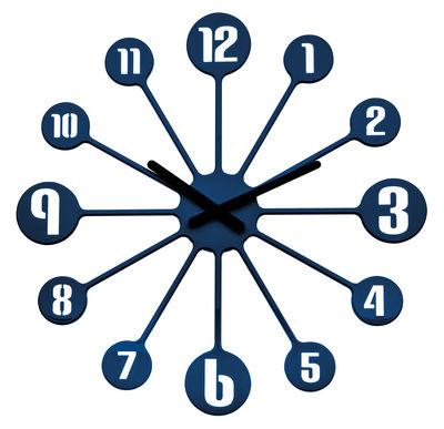 Horloge murale Pinball / Ø 45 cm - Koziol bleu marine en matière plastique