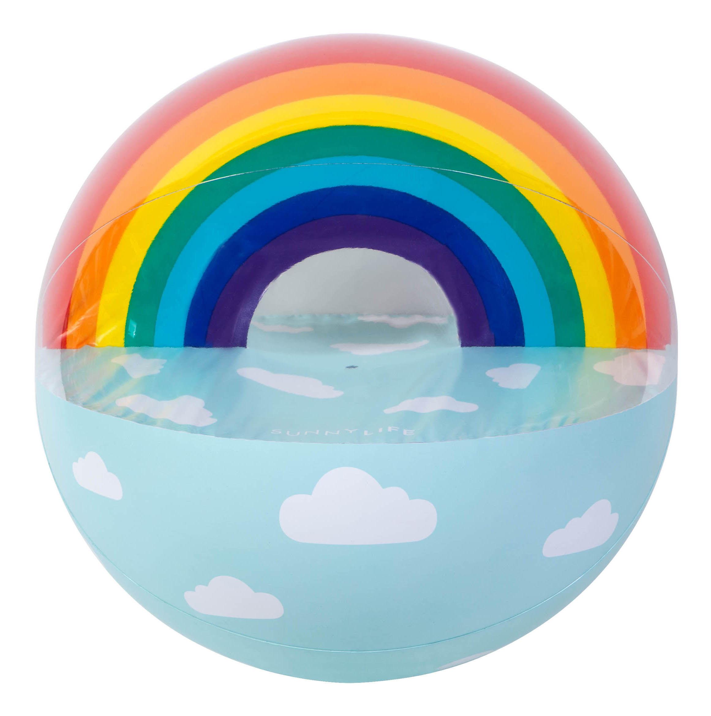 Decoration - Children's Home Accessories - Arc-en-ciel Inflatable balloon - giant / Rainbow - Inflatable - Ø 90 cm by Sunnylife - Rainbow - High resistance PVC