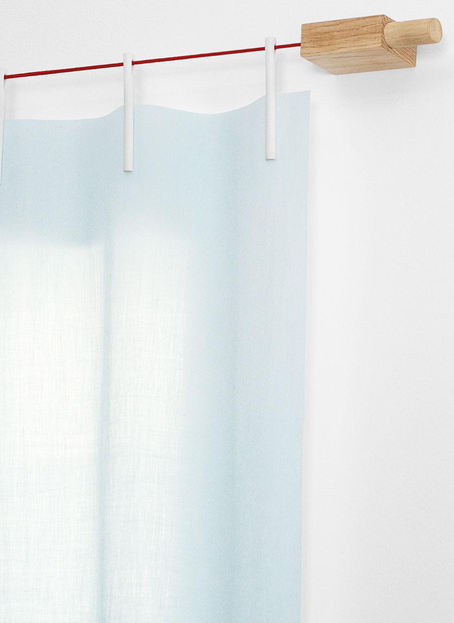 ready made kit vorhang montageset vliesstoff l 210 x h 300 cm t rkis by kvadrat made. Black Bedroom Furniture Sets. Home Design Ideas