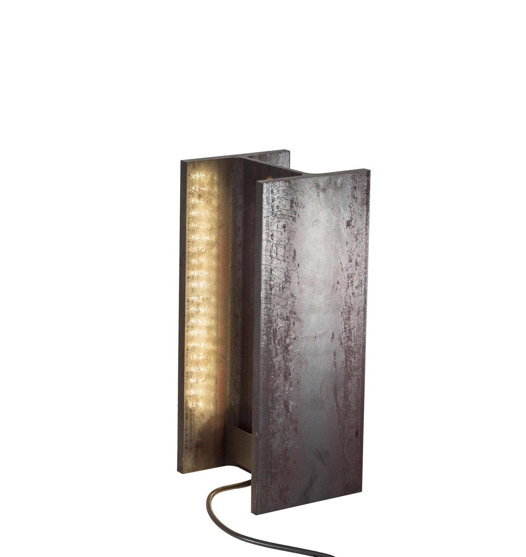 Lighting - Table Lamps - MINI Mais plus que cela je ne peux pas Lamp - / INDOOR LED - H 15 cm by Nemo - H 15 cm / Rust - Raw iron