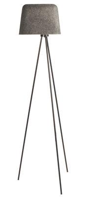 Illuminazione - Lampade da terra - Lampada a stelo Felt di Tom Dixon - Grigio - Feltro, Metallo