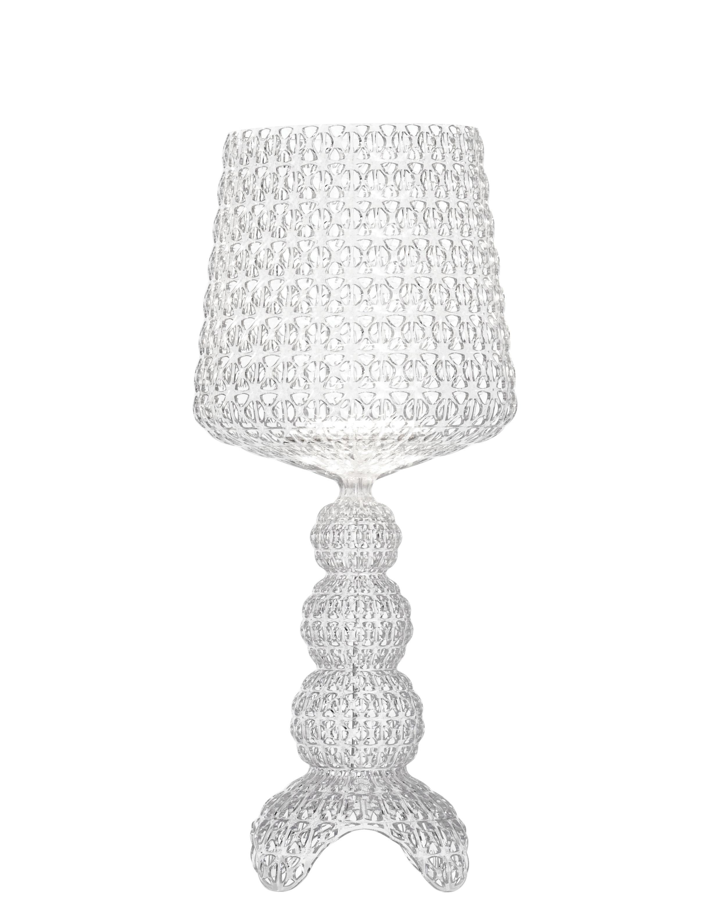 Luminaire - Lampes de table - Lampe à poser Mini Kabuki / LED - H 70 cm - Kartell - Cristal - Technopolymère thermoplastique