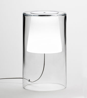 Lampe de table Join Large / H 34 cm - Vibia blanc,transparent en verre