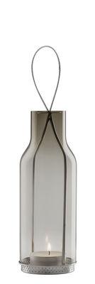 Outdoor - Déco et accessoires - Lanterne H 20 cm / Photophore - Eva Solo - Gris Fumé - Acier inoxydable, Verre soufflé bouche