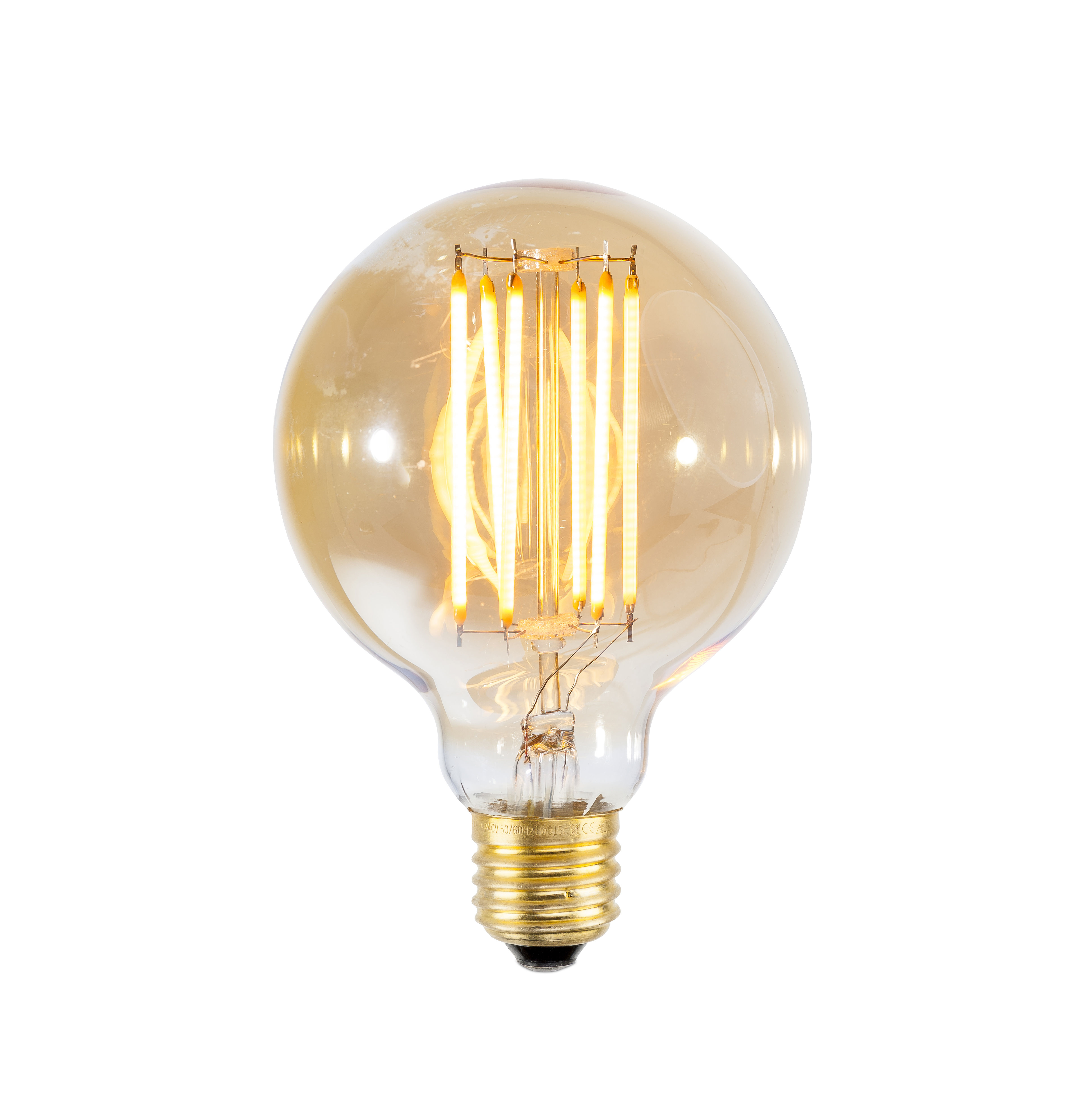Leuchten - Glühbirnen - Globe Large LED-Leuchtmittel mit Glühfäden / E27 4W - It's about Romi - Transparent / Glühfäden goldfarben - Glas