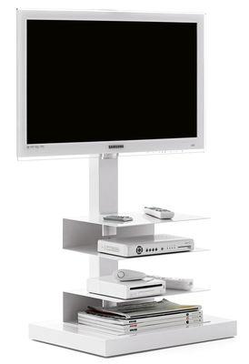 Mobilier - Meubles TV - Meuble TV Ptolomeo / Pour écran de 20 à 42 pouces - Opinion Ciatti - Blanc - Acier laqué