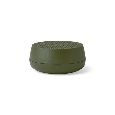 Image of Mini cassa acustica Bletooth Mino S - 3W - / Senza fili - Ricarica USB di Lexon - Verde - Materiale plastico