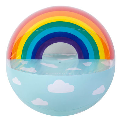 Interni - Per bambini - Pallone da spiaggia - gigante / Arcobaleno - Gonfiabile - Ø 90 cm di Sunnylife - Arcobaleno - PVC haute résistance