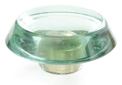 Mobilier - Portemanteaux, patères & portants - Patère Glass Knob Small / verre - Ø 12 cm - Tom Dixon - Bleu - Verre pressé