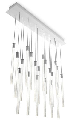 Lighting - Pendant Lighting - Multispot Tooby Pendant - LED / 20 elements by Fabbian - Transparent - Borosilicated glass
