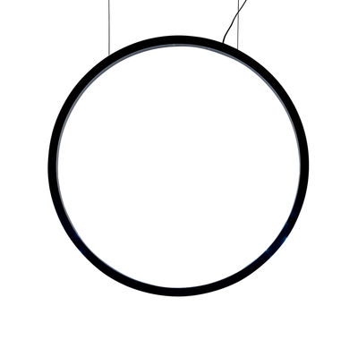 Lighting - Pendant Lighting - O Pendant - / LED - Ø 90 cm - Motion detectors by Artemide - Black - Extruded aluminium