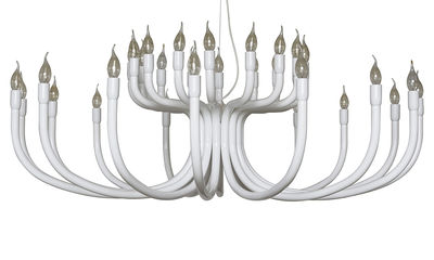 Lighting - Pendant Lighting - Snoob Pendant - 16 arms - Ø 130 cm by Karman - White - Lacquered aluminium