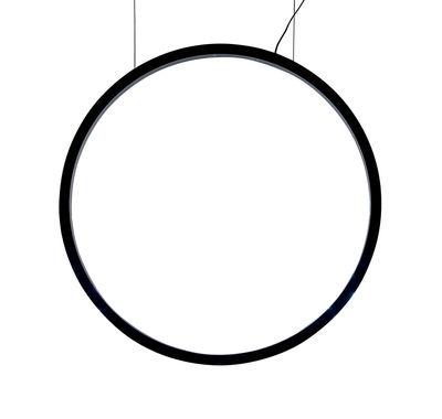 O Pendelleuchte / LED - Ø 90 cm - Bewegungssensor - Artemide - Schwarz