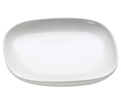 Tavola - Tazze e Boccali - Piattino sottotazza Ovale - per tazza da caffè / moka di Alessi - Bianco - Ceramica stoneware