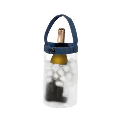 Arts de la table - Bar, vin, apéritif - Rafraîchisseur à bouteille Easy Fresh Crystal / Sac de transport - L'Atelier du Vin - Transparent / Bleu - PVC, Toile polyester
