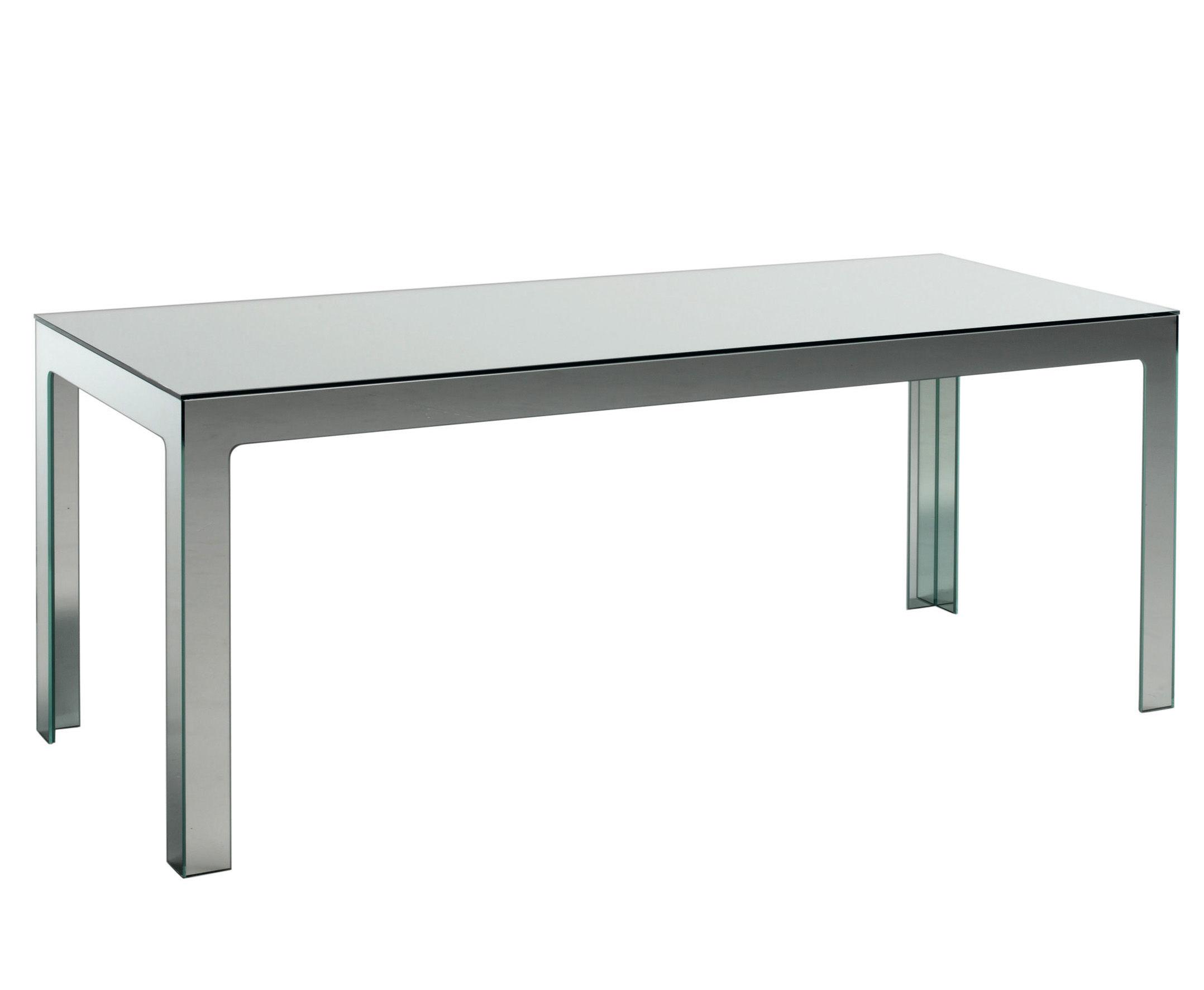 Möbel - Tische - Mirror Mirror rechteckiger Tisch 200 x 80 cm - Glas Italia - Spiegeloberfläche - Spiegel-Finish