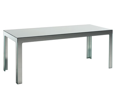 Furniture - Dining Tables - Mirror Mirror Rectangular table - 200 x 80 cm by Glas Italia - Mirror - Mirror