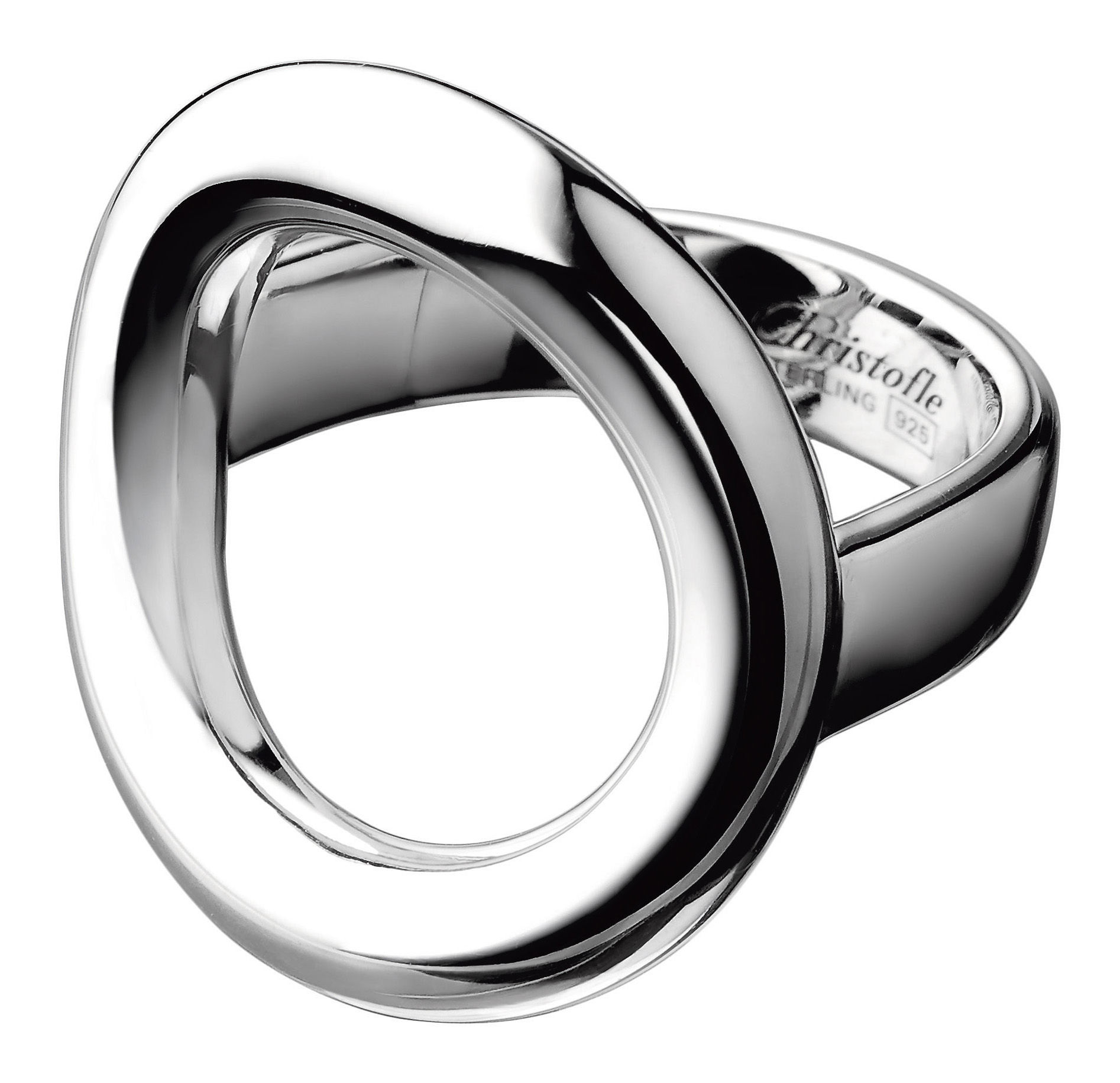 Accessories -  Jewellery - Collection 925 - Anneau Ring - By Andrée Putman by Christofle - Silver - Size 53 - Solid silver