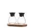 Firenze Salt and pepper set - / Avec support bois by Leonardo