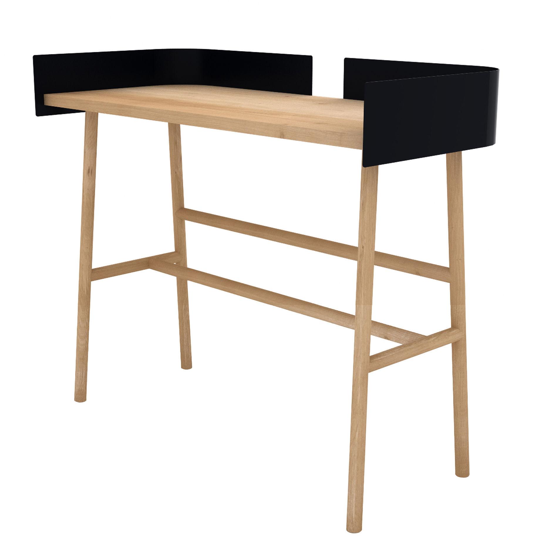 Schreibtisch B Desk Von Universo Positivo Eiche Natur Schwarz