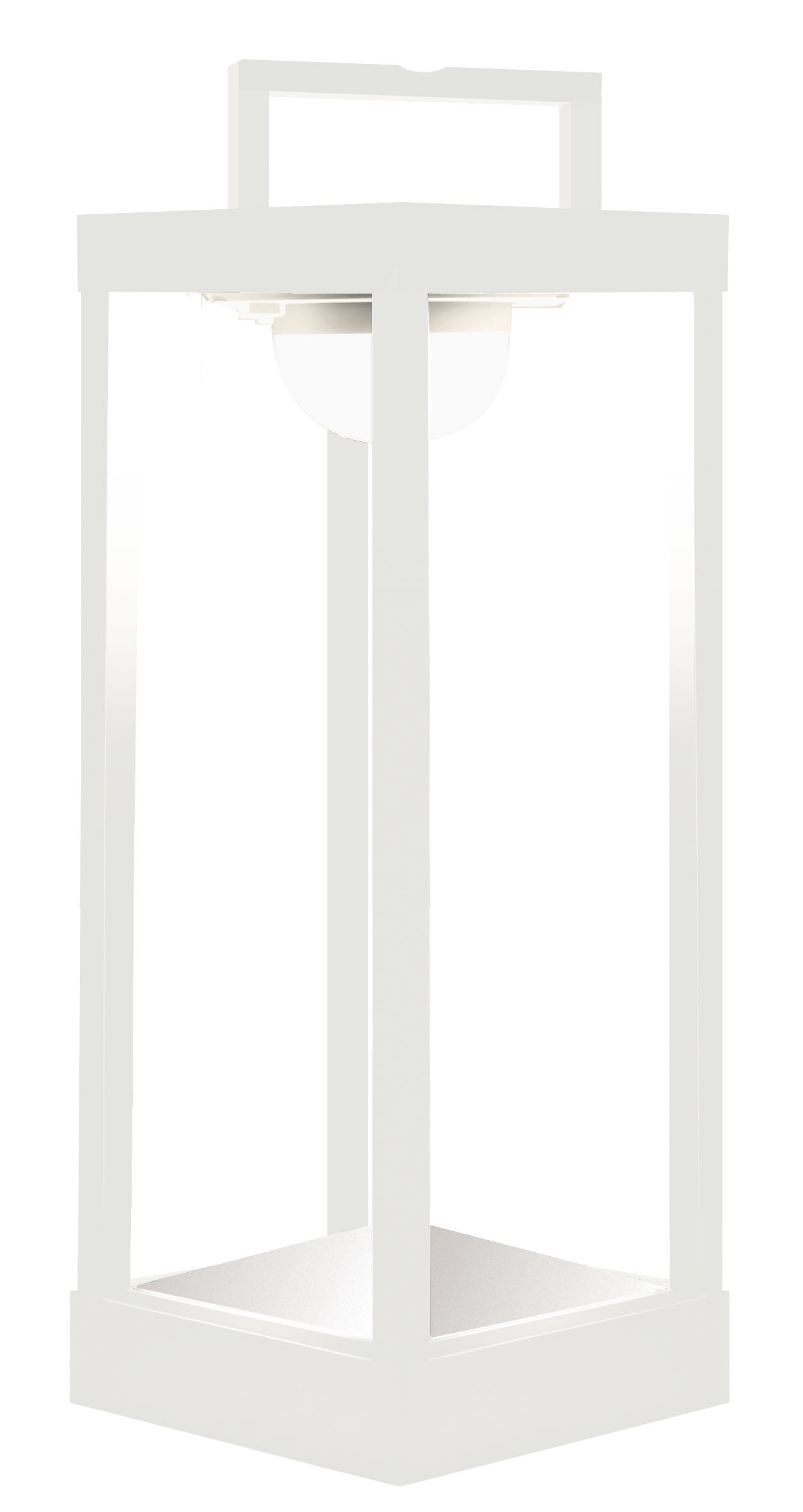 Leuchten - Tischleuchten - La Lampe Parc L Solarlampe LED / kabellos - H 50 cm - Maiori - Weiß - Aluminium, Glas