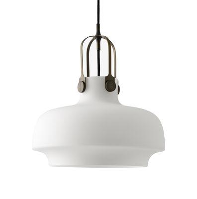 Illuminazione - Lampadari - Sospensione Copenhague SC7 - / Ø 35 cm - Vetro di &tradition - Vetro / Bianco opale - Metallo, Vetro opalino