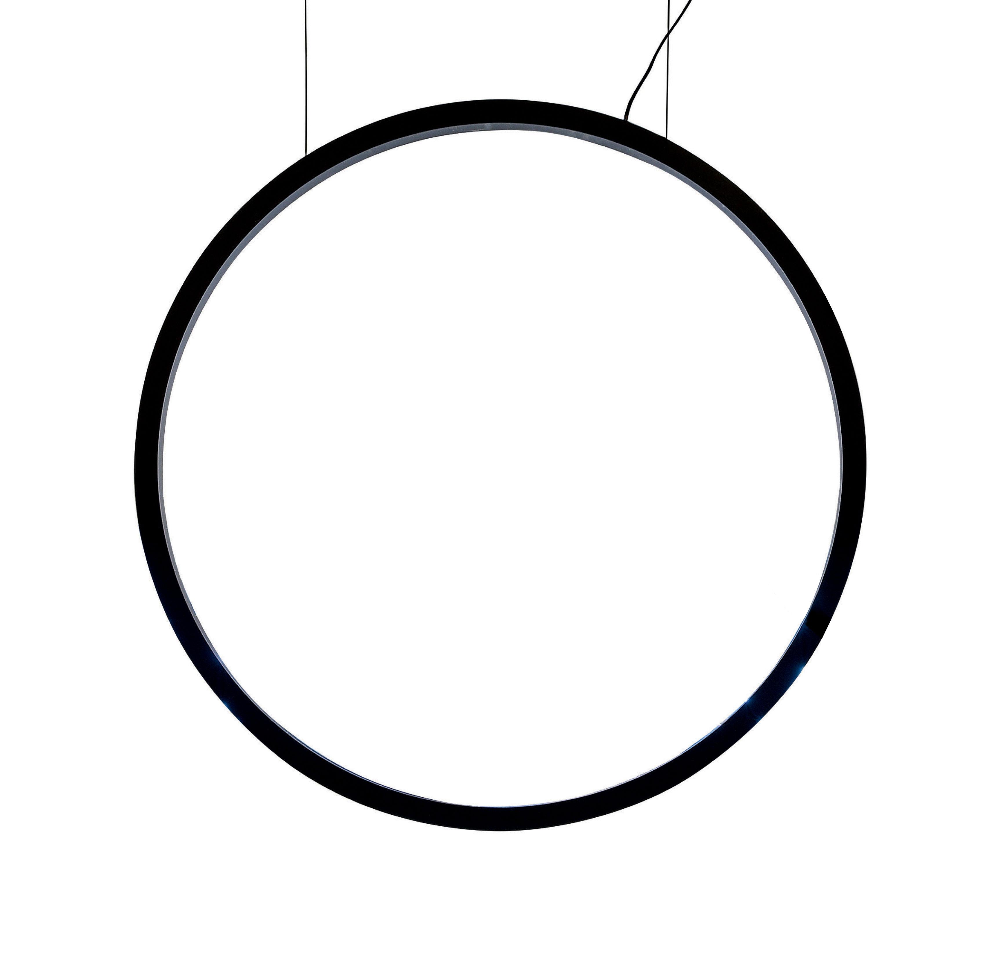 Illuminazione - Lampadari - Sospensione O - / LED - Ø 90 cm - Rilevatore movimento di Artemide - Nero - alluminio estruso