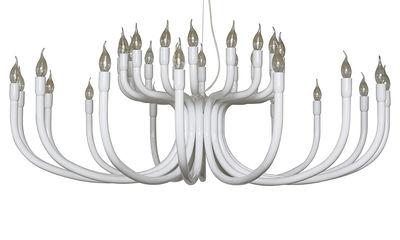 Illuminazione - Lampadari - Sospensione Snoob - /16 bracci -  Ø 130 cm di Karman - Bianco - Alluminio laccato