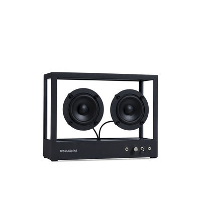 The Christmas shop - The must-haves - Small Speaker - / L 26 x H 20 cm - Tempered glass by Transparent Speaker - Black / Transparent - Aluminium, Soak glass