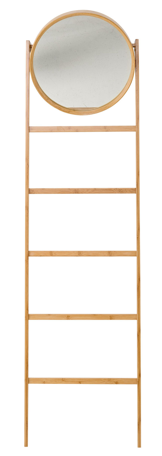 Möbel - Garderoben und Kleiderhaken - Bamboo Standspiegel / Handtuchständer - H 170 cm - Bloomingville - Bambus, natur - Bambusholz