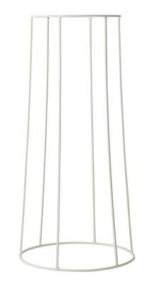 Support / H 60 cm - Pour pot et lampe à huile Wire - Menu blanc en métal