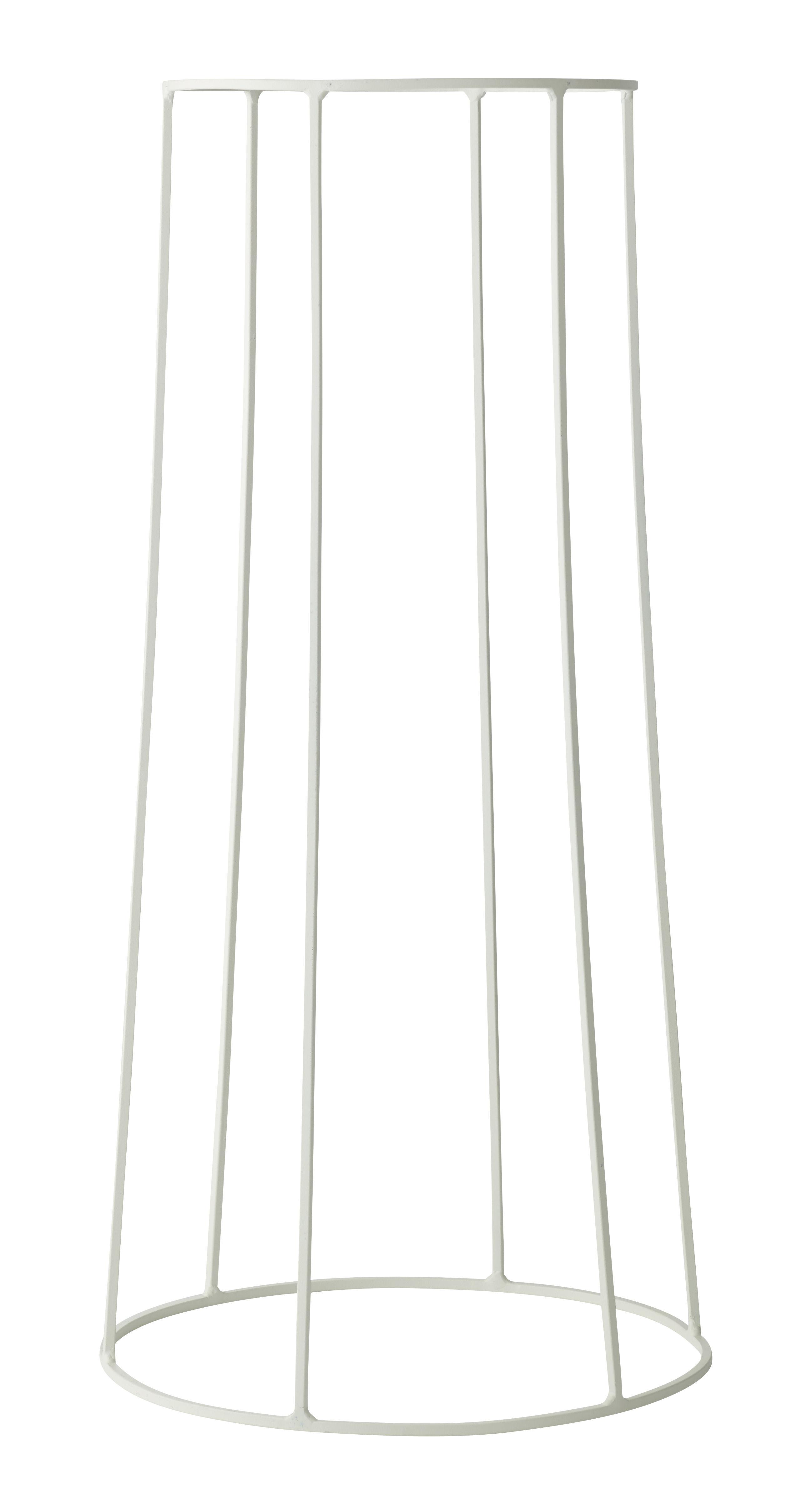 Outdoor - Pots et plantes - Support / H 60 cm - Pour pot et lampe à huile Wire - Menu - Blanc - Acier laqué mat