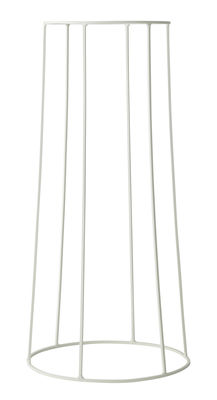 Outdoor - Vasi e Piante - Supporto / H 60 cm - Per vaso e lampada a olio Wire - Menu - Bianco - Acciaio laccato opaco