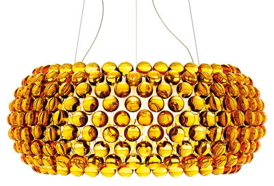 Suspension Caboche Grande / Ø 70 cm - Foscarini ambre en matière plastique