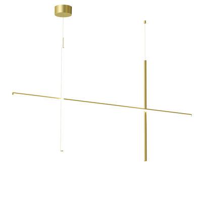 Luminaire - Suspensions - Suspension Coordinates S2 LED / L 176 cm x H 92 cm - Flos - Champagne anodisé - Aluminium extrudé