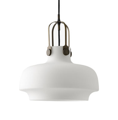 Luminaire - Suspensions - Suspension Copenhague SC7 / Ø 35 cm - Verre - &tradition - Verre / Blanc opale - Métal, Verre opalin