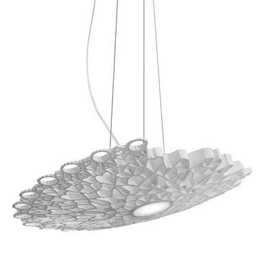 Suspension Notredame LED / Ø 98 cm - Karman blanc en matière plastique