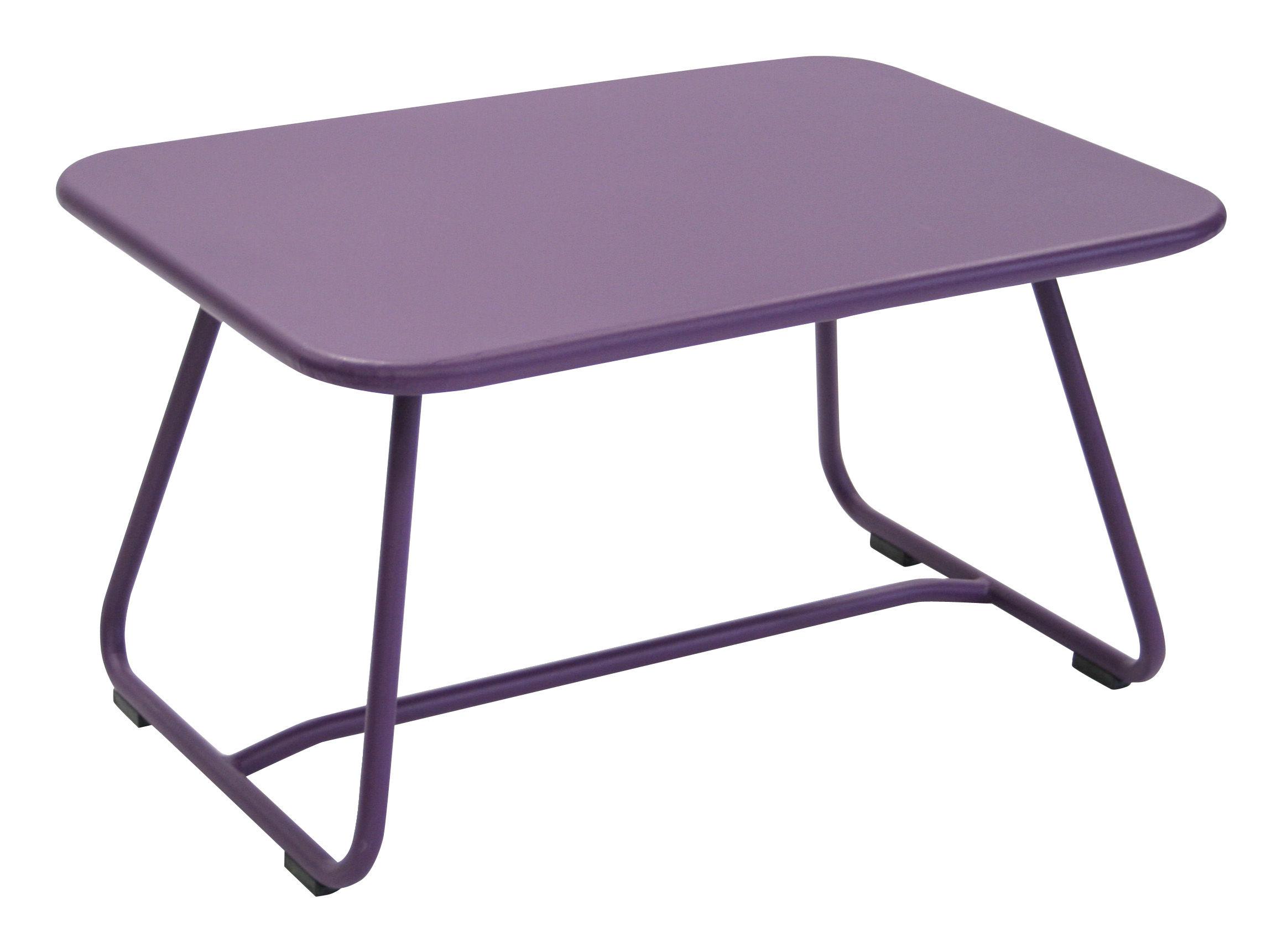 Mobilier - Tables basses - Table basse Sixties / Acier - 75 x 55 cm - Fermob - Aubergine - Acier laqué