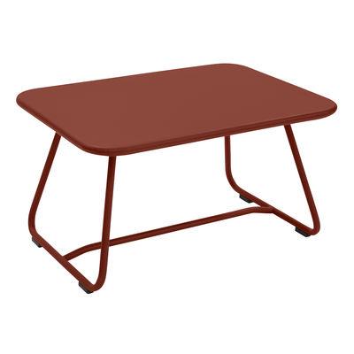 Table basse Sixties / Acier - 75 x 55 cm - Fermob ocre rouge en métal