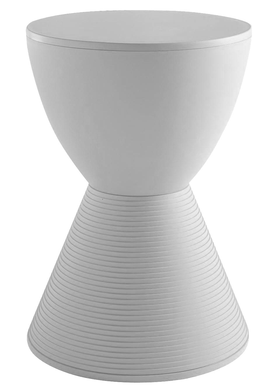 Mobilier - Tabourets bas - Tabouret Prince AHA / Plastique - Kartell - Blanc cire - Polypropylène