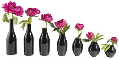 Decoration - Vases - Vase des 7 nuits Vase - Set of 7 by Tsé-Tsé - Black - Glass