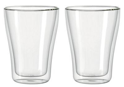 Verre Duo double paroi / Lot de 2 - 250 ml - Leonardo transparent en verre