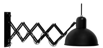 Lighting - Wall Lights - Aberdeen Wall light with plug - / Extensible arm - Adjustable by It's about Romi - Matt black - Painted steel