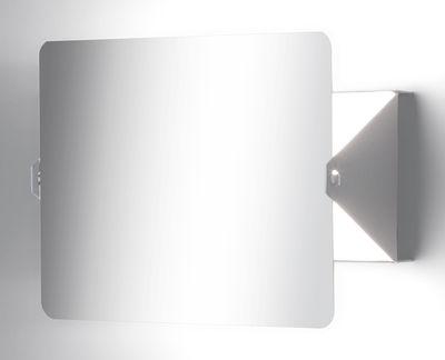 Applique à volet pivotant LED /Charlotte Perriand, 1962 - Nemo blanc,miroir en métal
