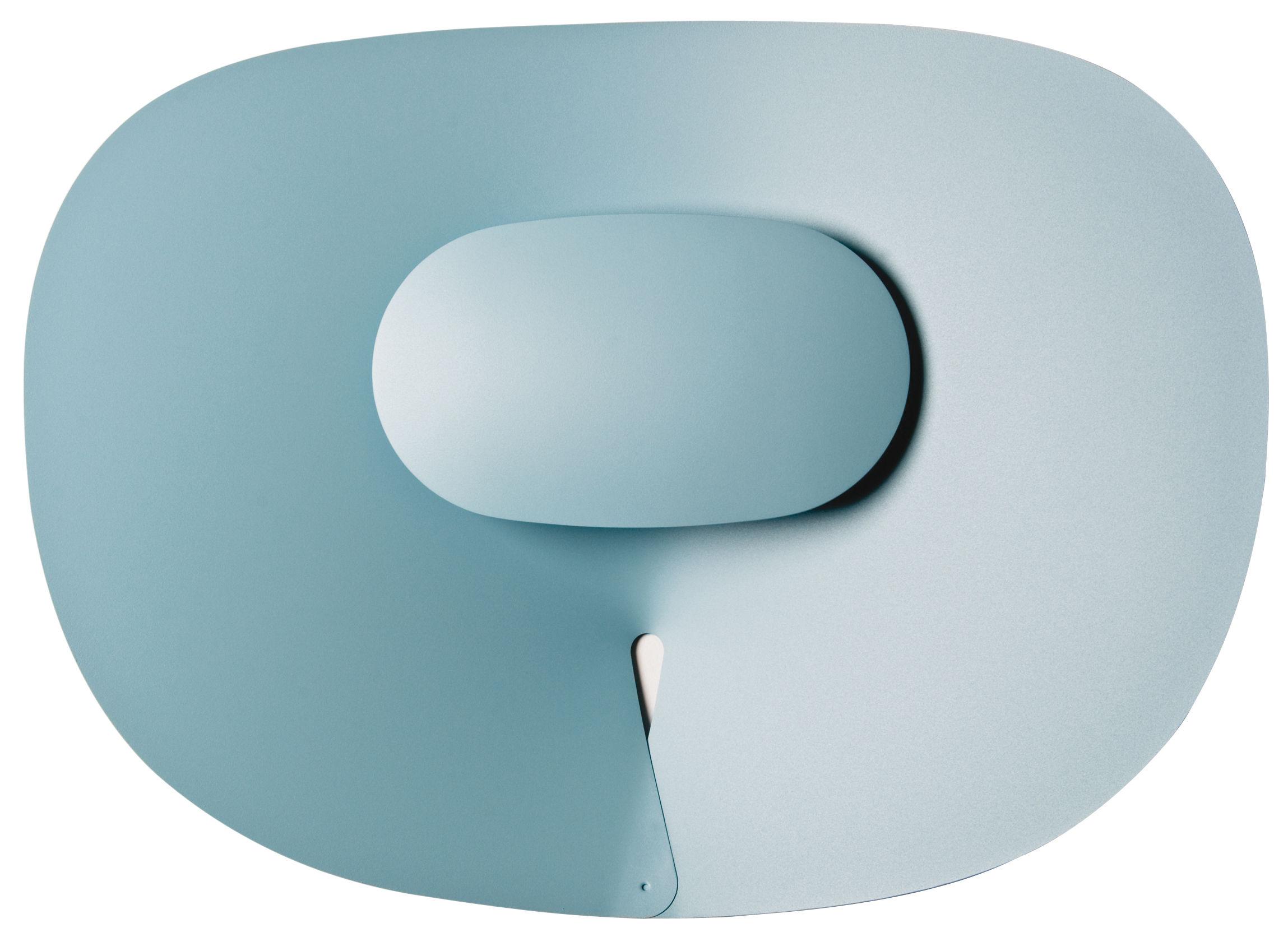 Luminaire - Appliques - Applique d'extérieur Séléné LED  / Horizontale 50 x 65 cm - Roger Pradier - Bleu - Aluminium